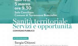 Sanità territoriale, martedì 5 marzo un incontro pubblico  per illustrare servizi ed opportunità